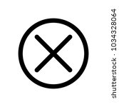 cross in the circle icon....