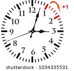 daylight saving time. dst. wall ... | Shutterstock . vector #1034335531