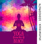poster for yoga and meditation... | Shutterstock .eps vector #1034339674