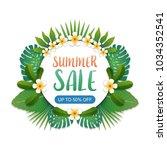summer sale background banner... | Shutterstock .eps vector #1034352541