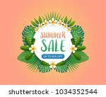 summer sale background banner... | Shutterstock .eps vector #1034352544