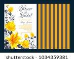 floral frame bridal shower... | Shutterstock .eps vector #1034359381