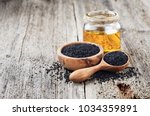 Black Cumin Oil With Seeds On...