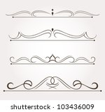set of calligraphic design... | Shutterstock .eps vector #103436009