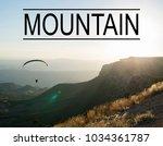 mountain landscape background... | Shutterstock . vector #1034361787