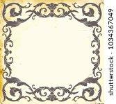 retro baroque decorations... | Shutterstock .eps vector #1034367049