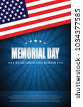 memorial day. remember and... | Shutterstock .eps vector #1034377585