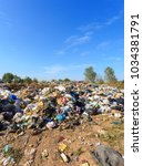 Small photo of Russia, Ryazan, 02 Sep, 2018; Large pile of debris, city dump pollution. Garbage and nature is a big actual problem Dumps,trash,garbage site,Landfill