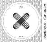 cross adhesive bandage  medical ... | Shutterstock .eps vector #1034382325