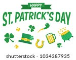 st. patrick's day icons  vector | Shutterstock .eps vector #1034387935