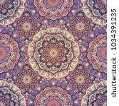 seamless pattern mandala... | Shutterstock .eps vector #1034391235
