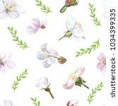 blossom floral seamless pattern ... | Shutterstock . vector #1034399335