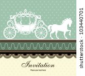 vintage luxury carriage design | Shutterstock .eps vector #103440701