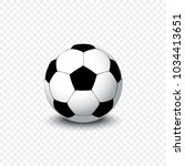soccer ball. realistic football ... | Shutterstock .eps vector #1034413651