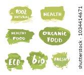 set of organic doodle banners.... | Shutterstock .eps vector #1034414671