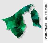 map bruneidarussalam map each... | Shutterstock .eps vector #1034416081