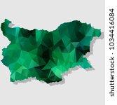 map bulgaria map each city... | Shutterstock .eps vector #1034416084