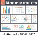 9 infographic templates  set 4  ... | Shutterstock .eps vector #1034419057
