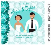 illustration with bride and... | Shutterstock .eps vector #1034420479