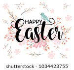 happy easter hand sketched... | Shutterstock .eps vector #1034423755
