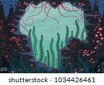 underwater nature background... | Shutterstock .eps vector #1034426461