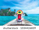 Summer Lifestyle Traveler Woman Bikini - Fine Art prints