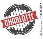 charlotte north carolina round... | Shutterstock .eps vector #1034427067