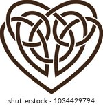 stencil. vector icon  celtic... | Shutterstock .eps vector #1034429794