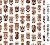 tribal tiki mask vector... | Shutterstock .eps vector #1034435767