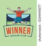 the soccer winner is a vector... | Shutterstock .eps vector #1034444077