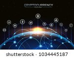 cryptocurrency and digital... | Shutterstock .eps vector #1034445187