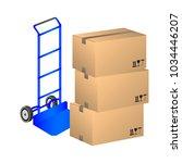 vector illustration handcart... | Shutterstock .eps vector #1034446207