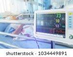 close up  digital vital signs... | Shutterstock . vector #1034449891