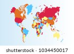 color world map vector   Shutterstock .eps vector #1034450017