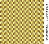 golden geometric  seamless wavy ... | Shutterstock .eps vector #1034451475