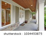 gorgeous big craftsman home... | Shutterstock . vector #1034453875