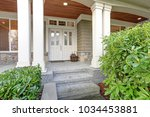 gorgeous big craftsman home... | Shutterstock . vector #1034453881