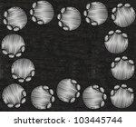 elephant footprint written on... | Shutterstock . vector #103445744