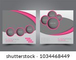 square flyer design. a cover... | Shutterstock .eps vector #1034468449