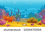 cartoon seamless underwater... | Shutterstock .eps vector #1034470504