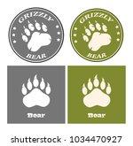 bear paw print circle logo... | Shutterstock .eps vector #1034470927