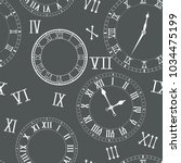 time seamless pattern. clocks ... | Shutterstock .eps vector #1034475199