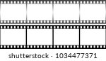 photographic film in form of... | Shutterstock . vector #1034477371