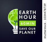 illustration of earth hour....   Shutterstock .eps vector #1034478739