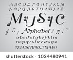 vector of black color music... | Shutterstock .eps vector #1034480941