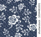 seamless pattern with vintage... | Shutterstock .eps vector #1034481031