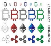cryptocurrencies icons of...