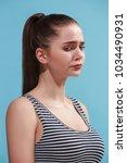 beautiful female three quarters ...   Shutterstock . vector #1034490931