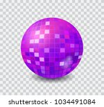 disco ball ultraviolet isolated ... | Shutterstock .eps vector #1034491084