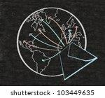 e mail and world symbol written ...   Shutterstock . vector #103449635